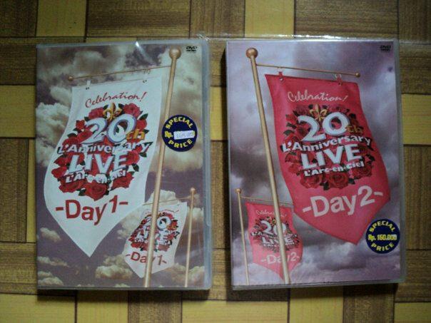 DVD L'Arc~en~Ciel 20th L'Anniversary LIVE