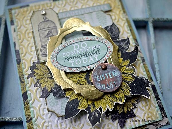 Its not difficult to create layers in a card as all you need is a little fussy cutting pretty die cuts some stickers and matching embellishments