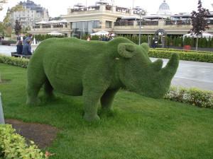 скульптура носорог
