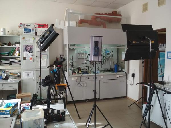съемки в лаборатории