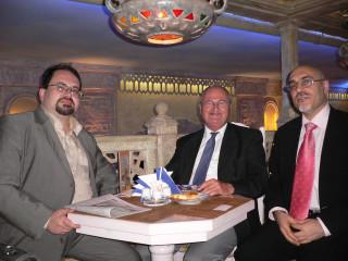 С Ван Кревельдом и Ю.Кузнецовым, Москва, 18 сентября 2006г.