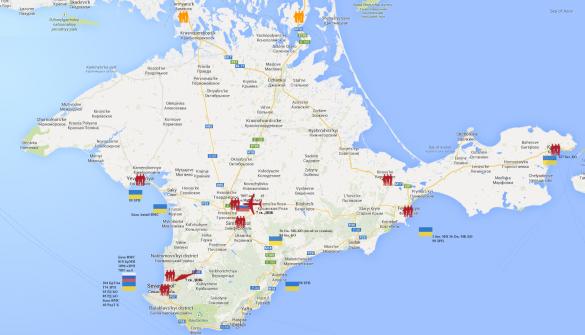 Карта российских войск
