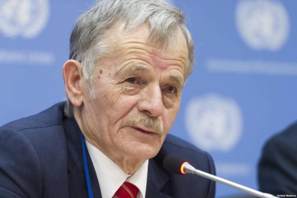 Мустафа Джемилев в Совбезе ООН 18 марта 2016 г.