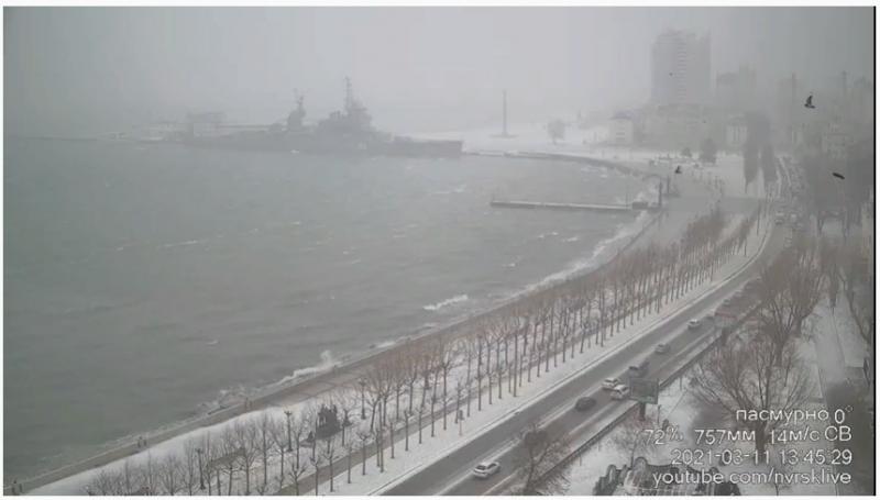 Погода сейчас в Новороссийске. Кадр трансляции с канала youtube.com/nvrsklive
