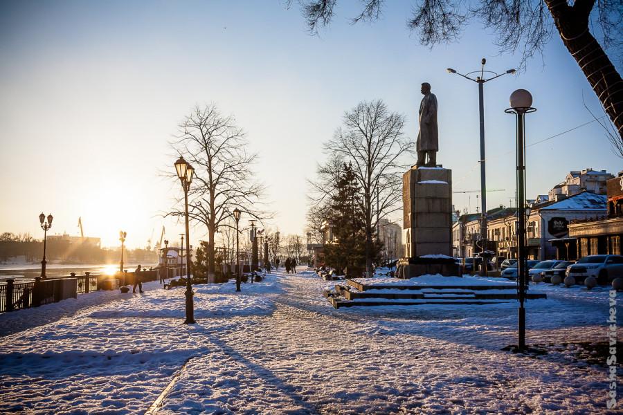 Набережная в Ростове-на-Дону зимой