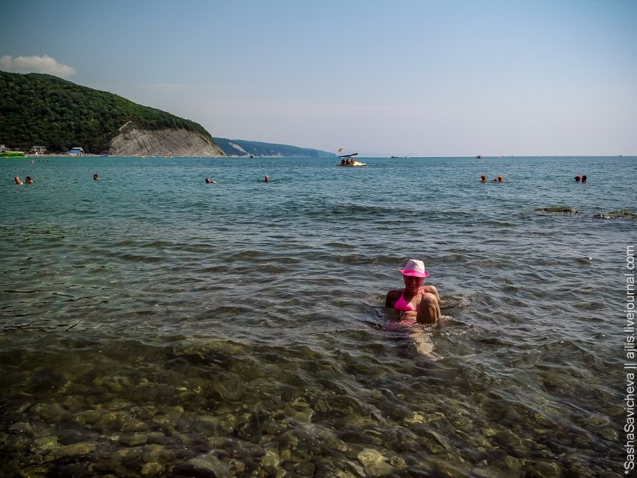 Архипка, море, дальний пляж