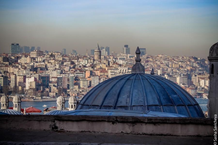 Лучший  вид Стамбула: вид с площадки мечети Сулеймания и боза