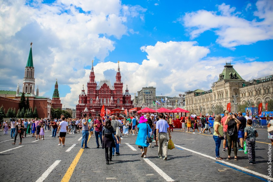 Москва во время финала ЧМ-2018 фото Саша Савичева