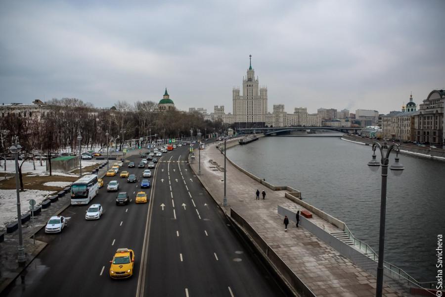 Весенняя холодная Москва. Апрель 2018. Фото - Саша Савичева