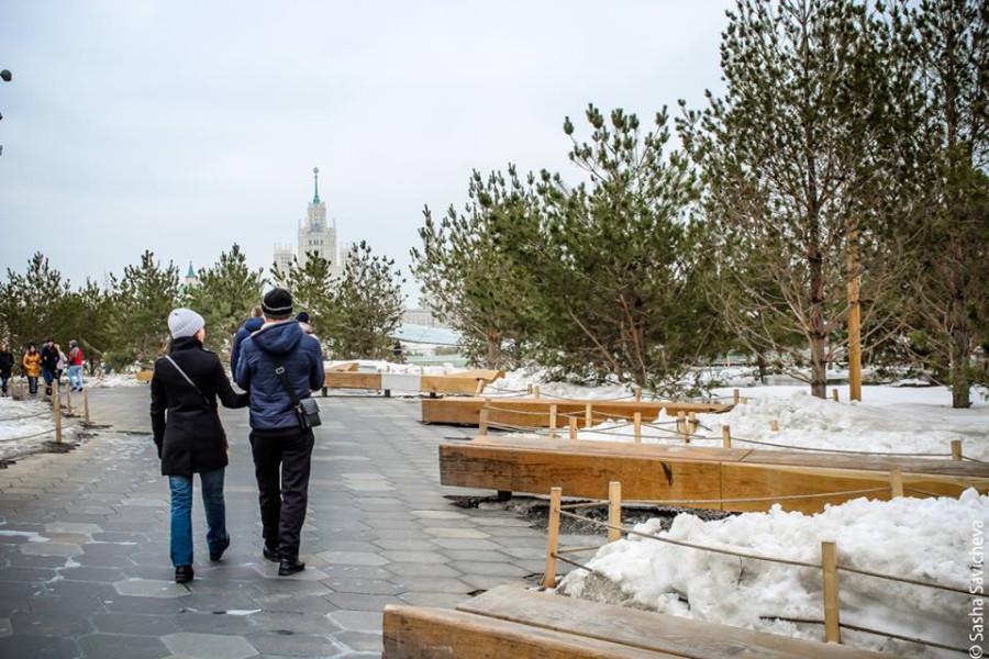 Парк Зарядье. Апрель 2018. Фото - Саша Савичева