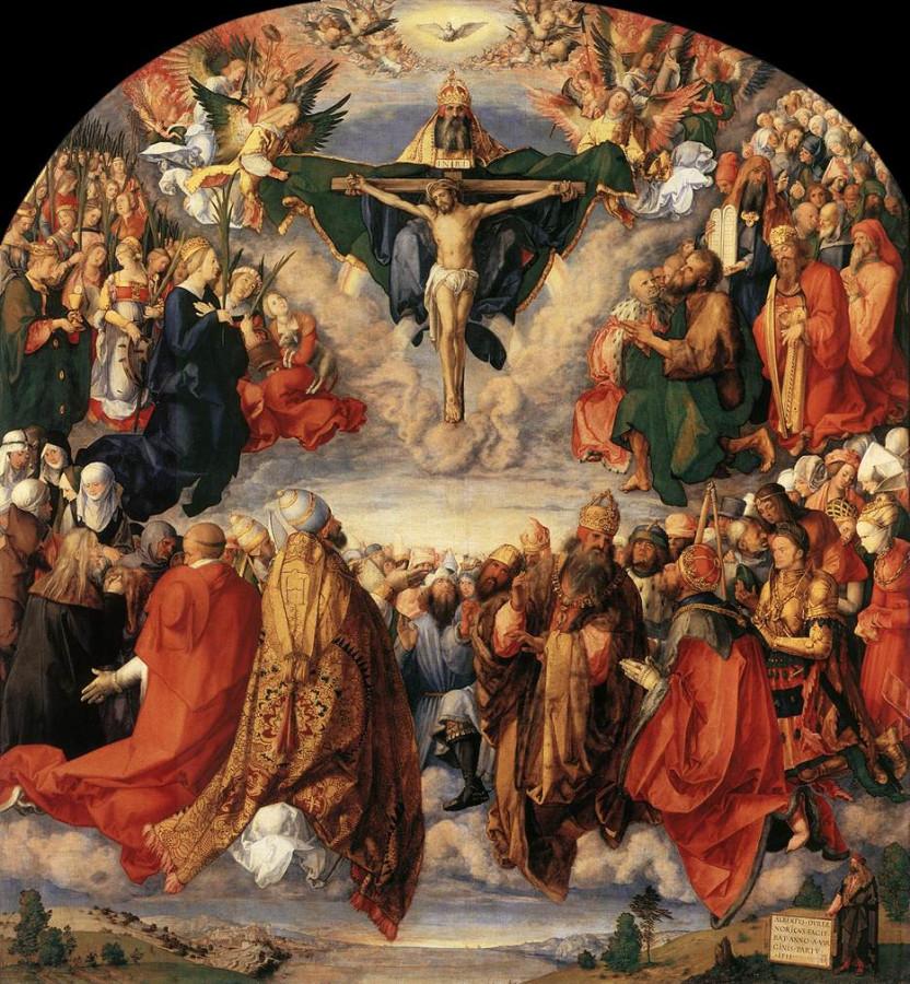 Альбрехт Дюрер, Поклонение Святой Троице (Алтарь Ландауэра). 1511Allerheiligenbild (Landauer Altar)