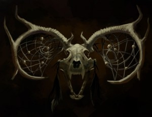 1100x850_10057_Dreamcatcher_2d_illustration_speed_painting_skull_devil_picture_image_digital_art