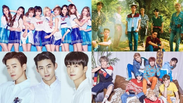 TWICE-2PM-EXO-BTS