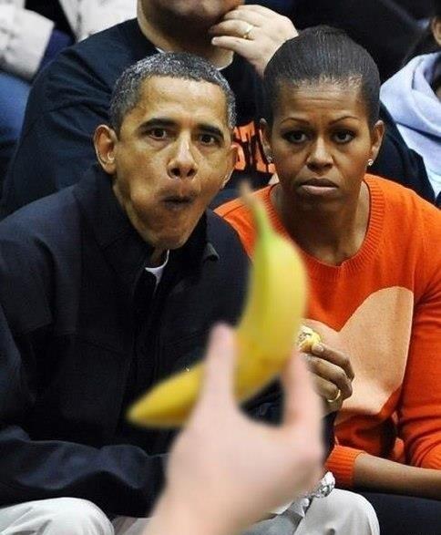 обама фото банан