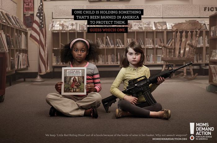 Социальная реклама против оружия в США