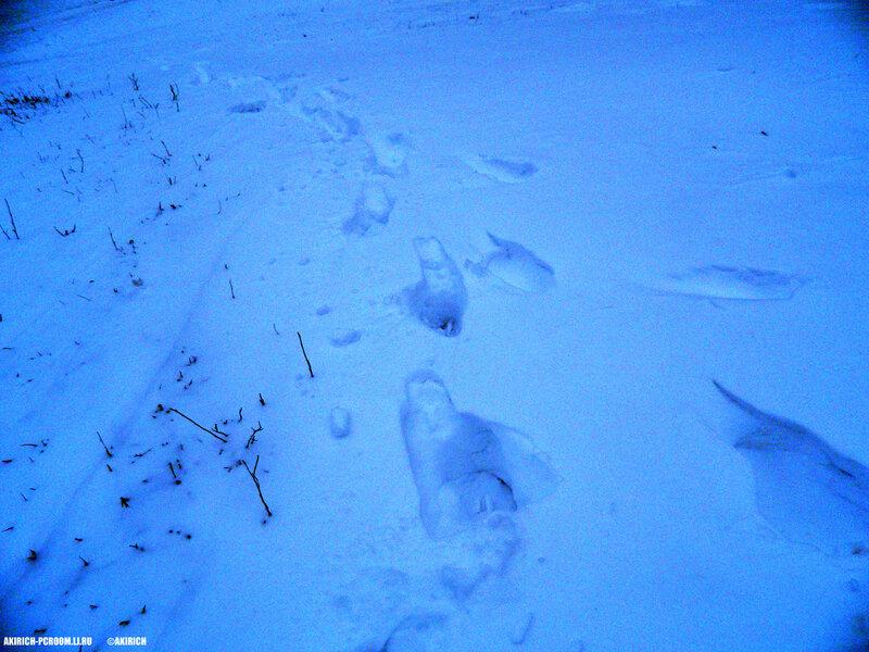 Глубина снега 30 см