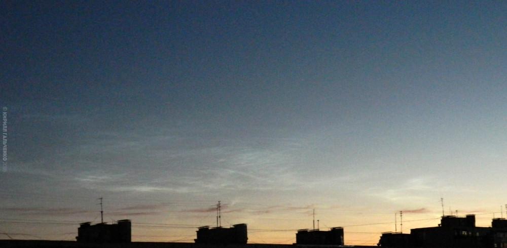 26 июня 2018.  Время около 4:00 утра.  Экспозиция нормальная, т.е. именно такое небо видно невооруженным взглядом.