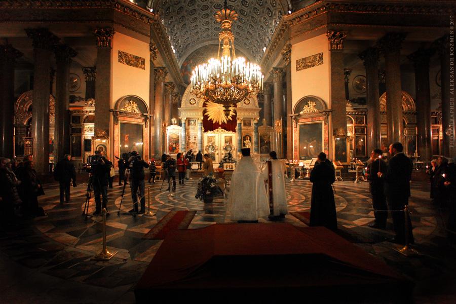 В Казанском соборе.