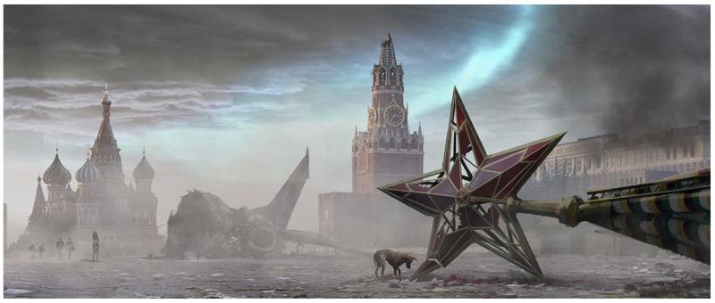 иллюстрация постапокалиптической фантастики