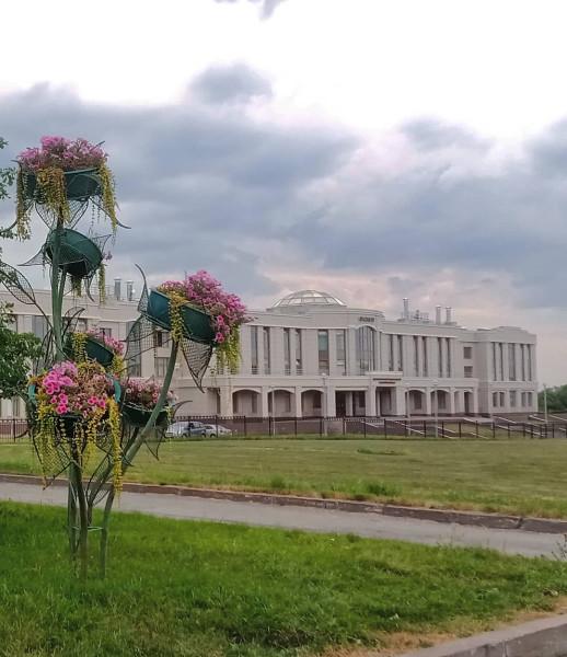 Здание вуза на въезде в Пушкин