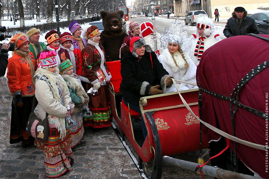 Выборг встретил Деда Мороза