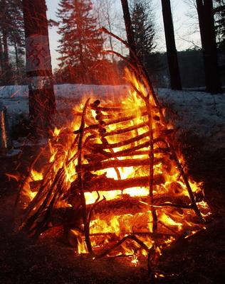 Кострище огненной церемонии
