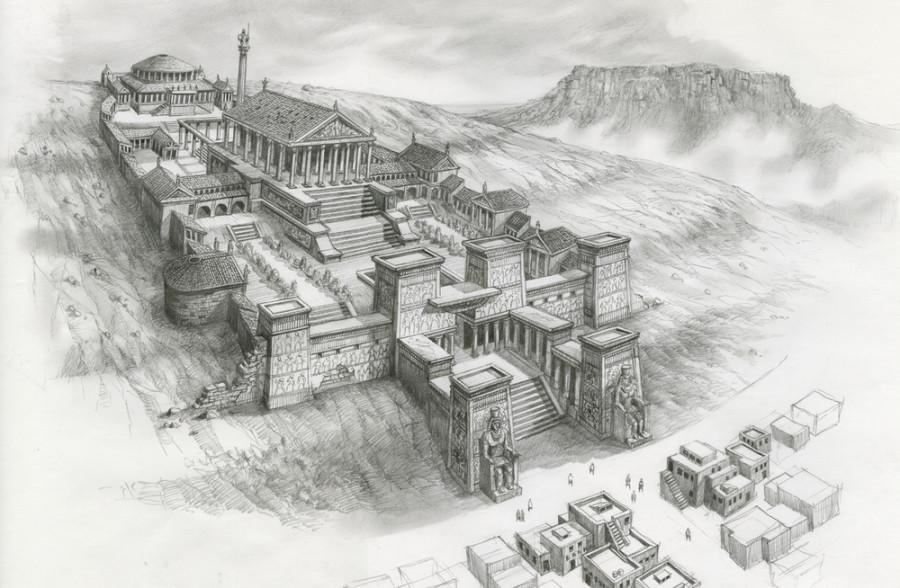 Западная пагода Прародины (Александрийская библиотека)