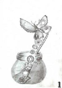 Гусеница-калебасница превращается в бабочку