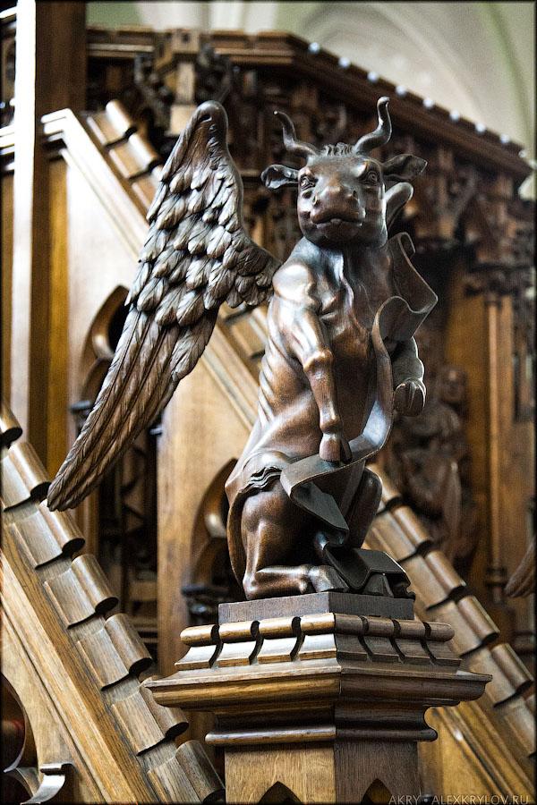 Holy Magdalena church in Bruges