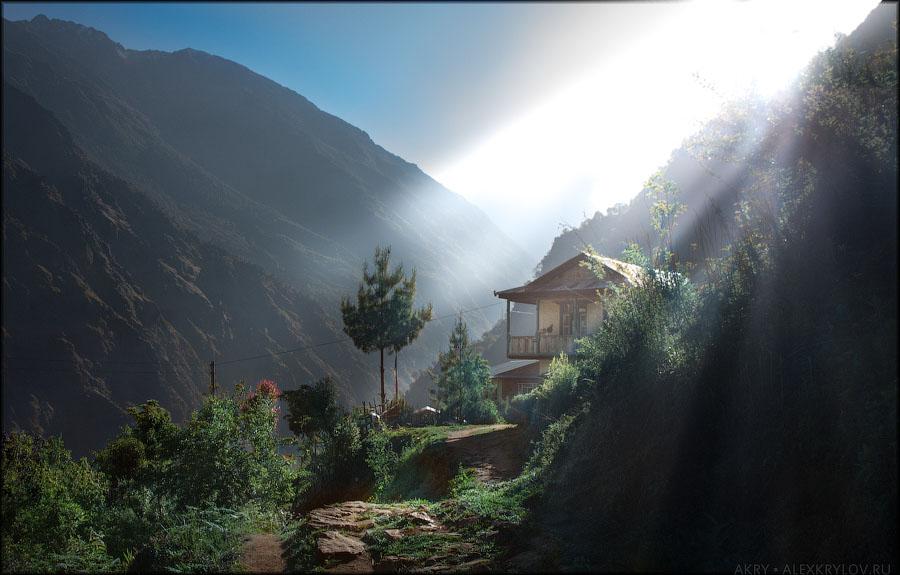 The morning at Syabru Gaon