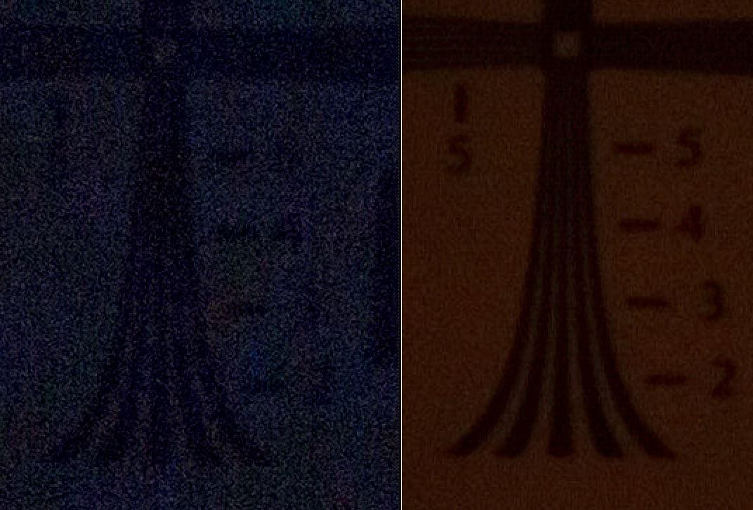 ISO 100ev5-6400 Cross Res Deep Shadow Compare