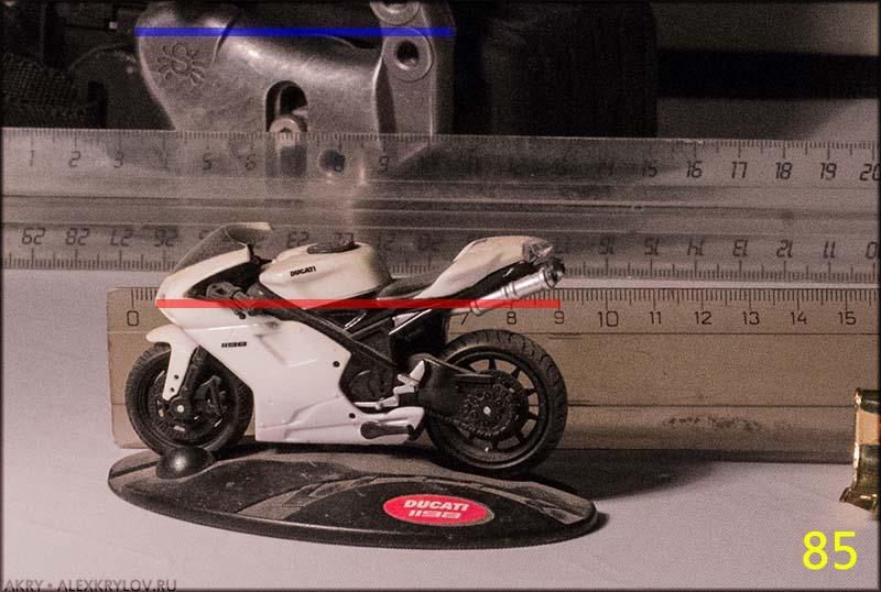Угловые размеры и фокусное расстояние - 85mm