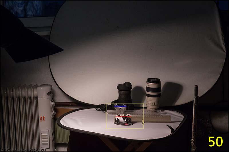 Угловые размеры и фокусное расстояние - 50mm