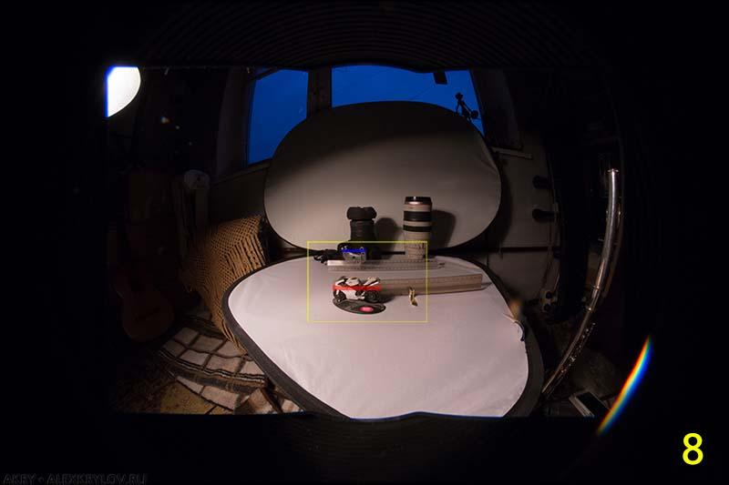Угловые размеры и фокусное расстояние - 8mm