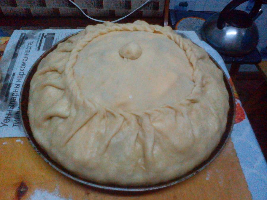 Балеш татарский пирог с рисом и изюмом