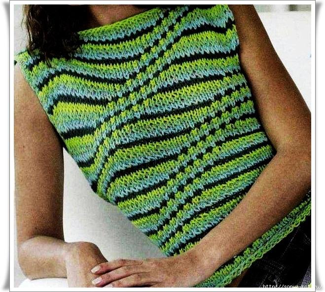 Разноцветное вязание спицами