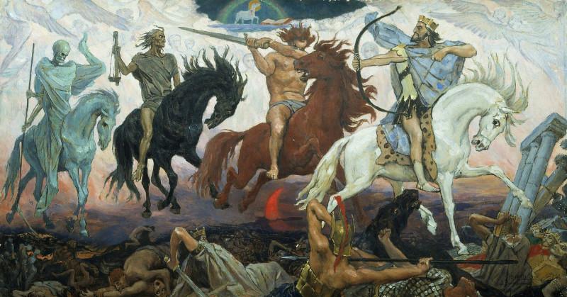 Четыре всадника Апокалипсиса. В.М.Васнецов 1887 г.