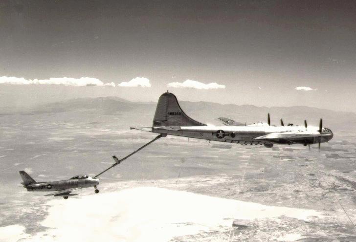 Airborne Rearming_KB-29M Performing Mid-Air Refueling (Credit- U.S. Air Force Museum)
