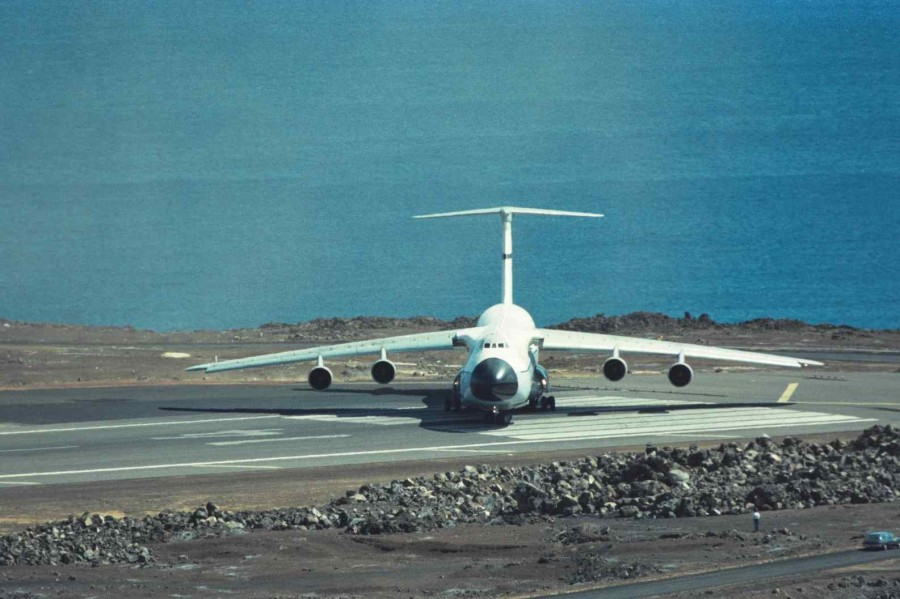 Colour - USAF C-5A Take off