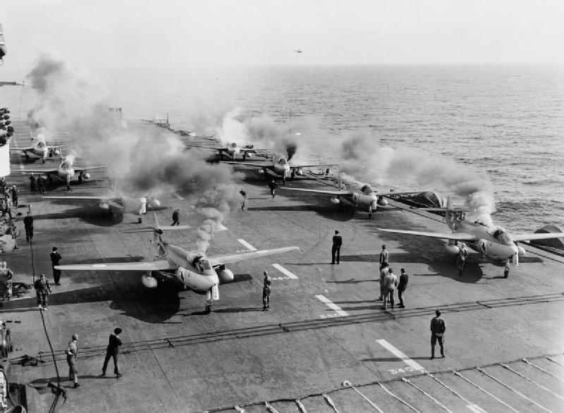 Sea_Hawks_806_NAS_firing_starter_cartrdges_on_HMS_Eagle_(R05)