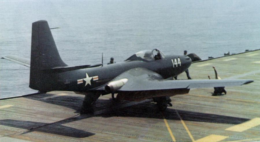 FH-1_Phantom_on_USS_Saipan_May_1948