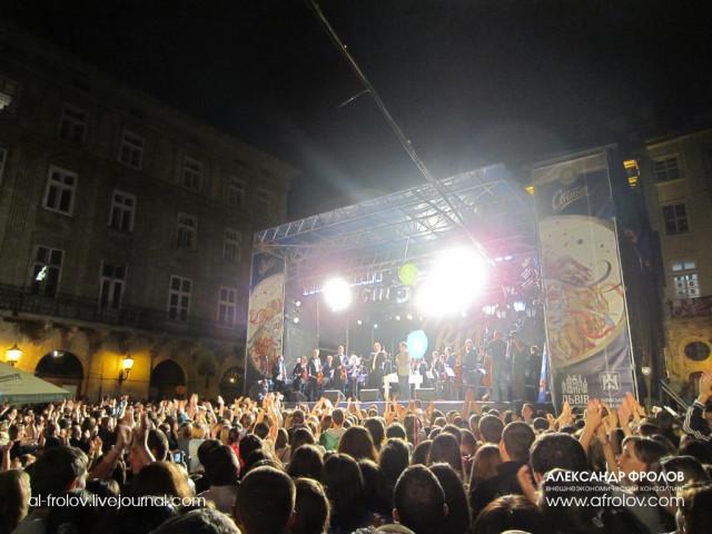 Первое выступление Павла Табакова с оркестром в качестве победителя конкурса Голос Украины 2012