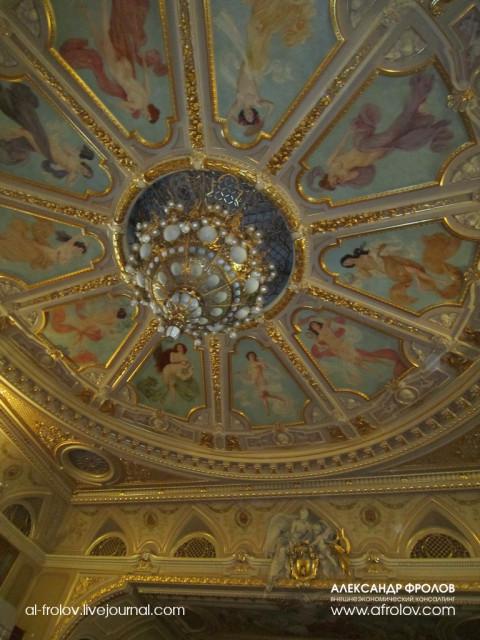 На потолке зала изображены человеческие страсти