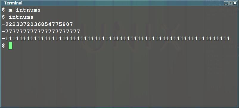 Наименьшее число long int в трех 'ходовых' системах счисления