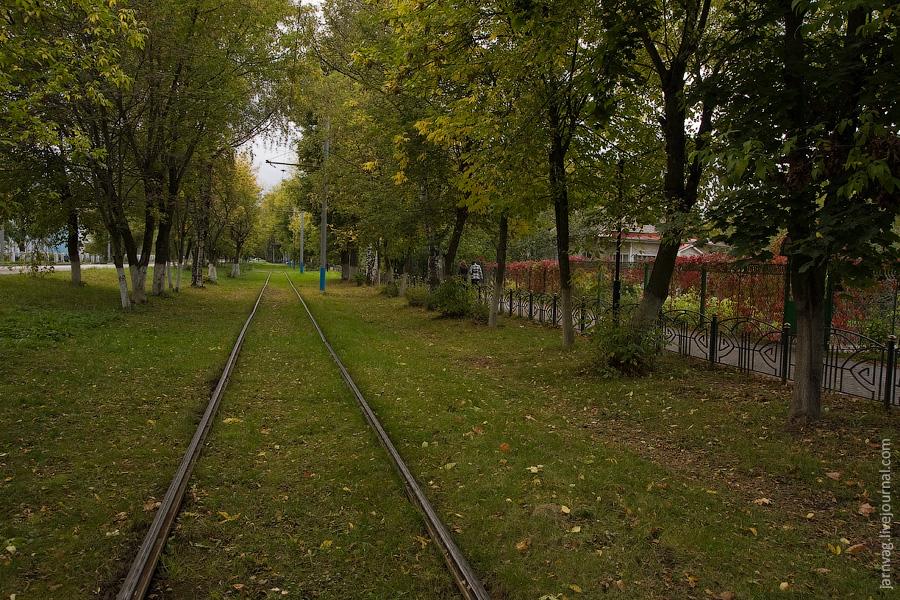 Ногинский трамвай осенью