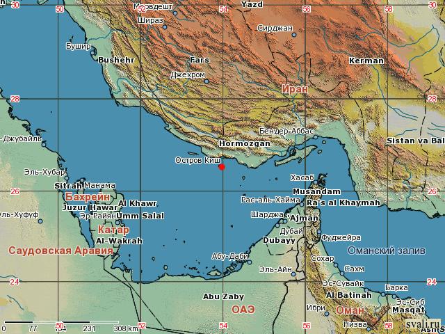 карта Киша