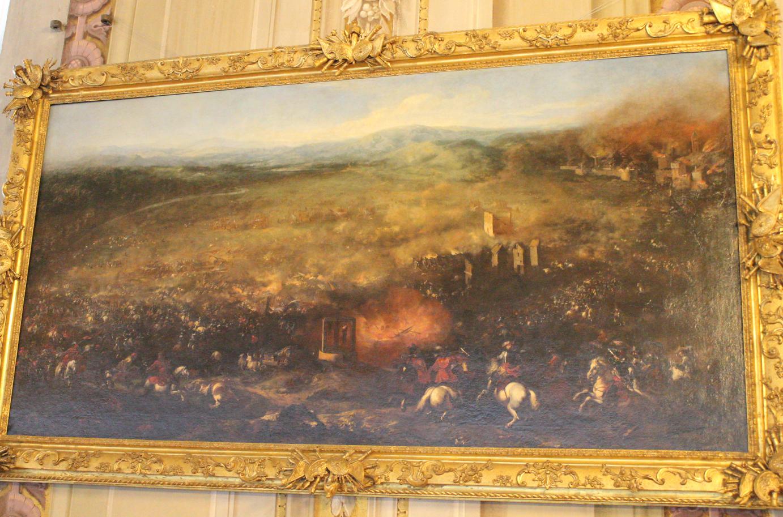 Jacques Courtois detto il Borgognone (St. Hyppolite, Borgogna 1621 – Roma 1676. Battaglia di Lützen 1656 ca. olio su tela