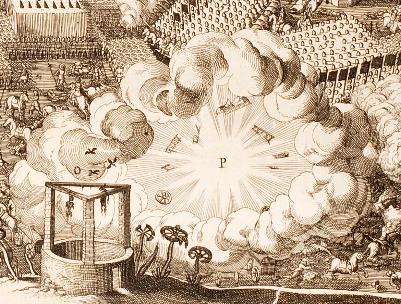 The battle of Lützen. Cornelis Danckerts. Фрагмент.