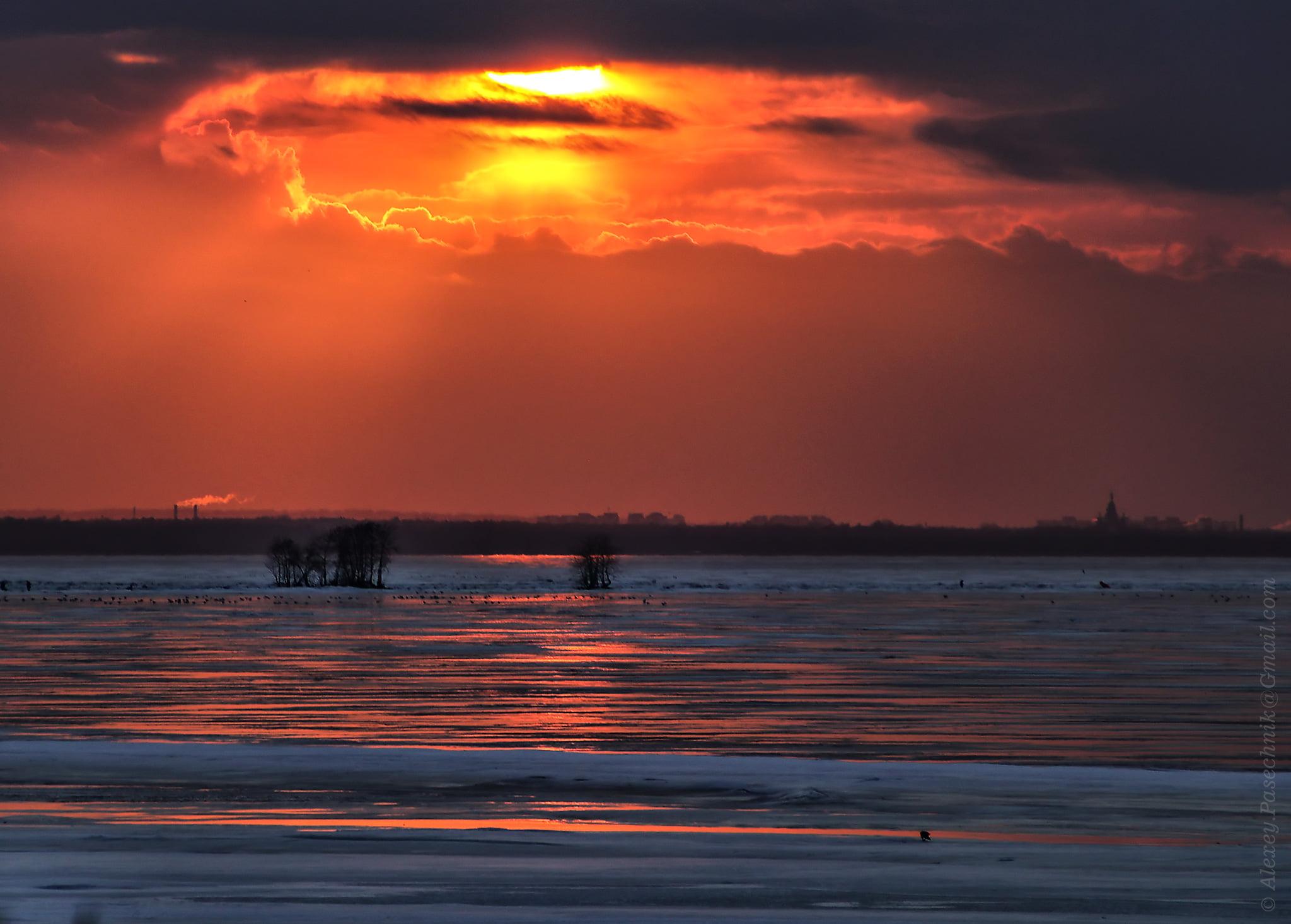 Канонерский остров. Финский залив. 14 марта 2021 года.