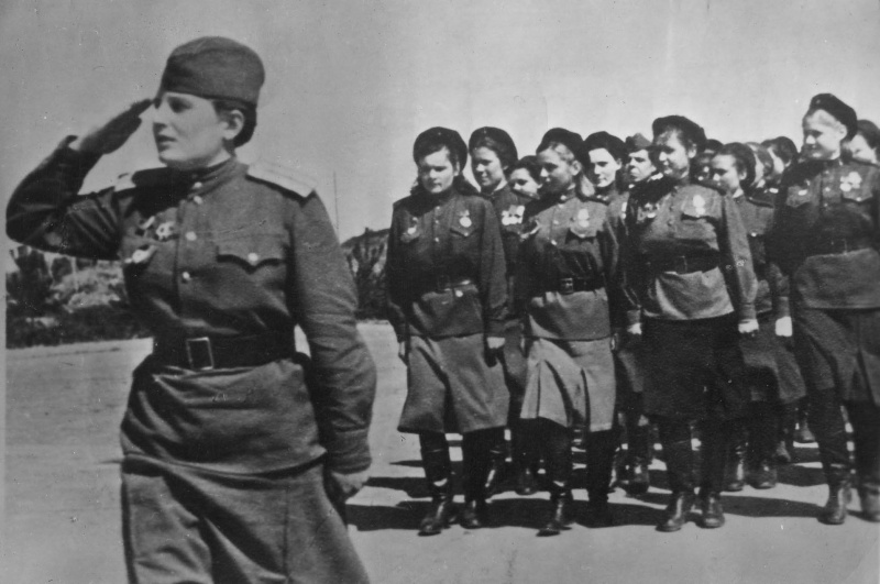 Девушки Таманской дивизии в 1945